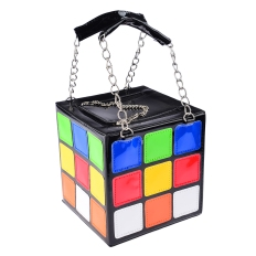 Women-s-Bag-Novelty-Cute-Magic-Cube-Shape-PU-Leather-Handbag-Tote-Bags-shoulder-bag